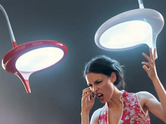 Cool Futuristic Ceiling And Floor Lamps By Odue Digsdigs