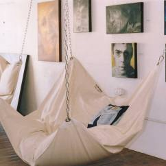 Hanging Bean Bag Chair Xora Office Cool Indoor Hammock  Le Beanock Digsdigs