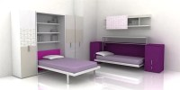 Cool Teen Room Furniture For Small Bedroom by Clei | DigsDigs