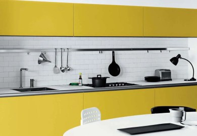 Cool White And Yellow Kitchen Design Vetronica By Meson S