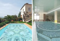 Fascinating Swimming Pool Design with Mosaic Glass Tiles ...