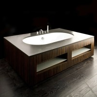 Luxury Bathtubs in Wooden Finish by Lacava | DigsDigs