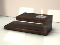 Modern Coffee Table With Built-in Fireplace  Fire Coffee ...