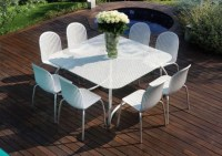 Modern White Outdoor Tables and Chairs - Loto & Ninfea ...
