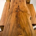 Rustic wood furniture for original contemporary room design digsdigs