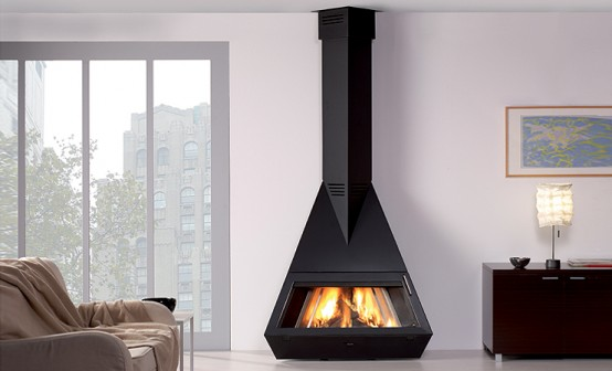 Modern Black Fireplaces By Rocal  DigsDigs