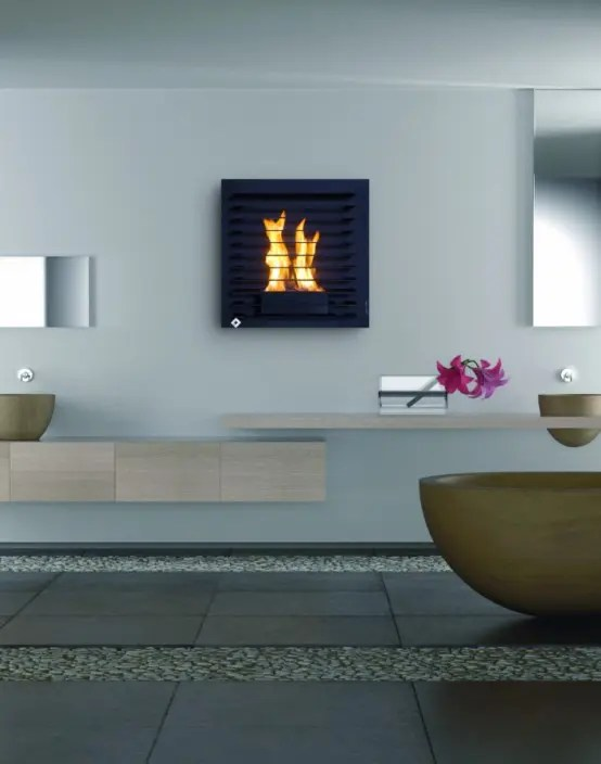 Unique Wall Mount Fireplaces by Aktys  DigsDigs