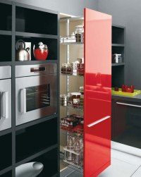 White, Black and Red Kitchen Design  Gio by Cesar | DigsDigs