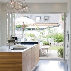 Folding Kitchen Island Couch Summer Must: 35 Adorable Kitchens Open To Outdoors - Digsdigs