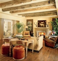 55 Airy And Cozy Rustic Living Room Designs - DigsDigs