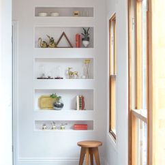 Small Kitchen Ideas Pictures Farmhouse Cabinets For Sale 29 Airy And Functional Niche Shelves Modern Decor ...