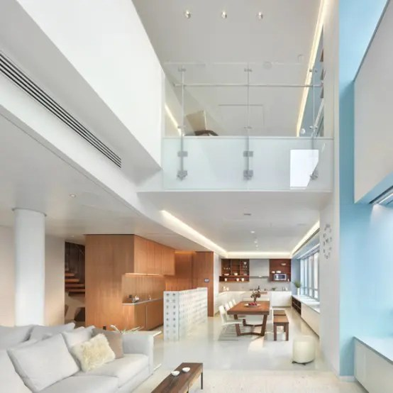 Amazing Interior Design of Modern Duplex Penthouse  DigsDigs