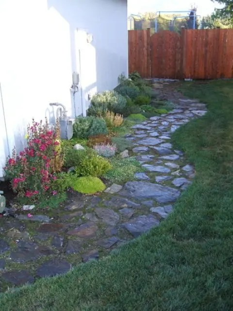 indoor outdoor chairs crushed velvet chair 43 awesome garden stone paths - digsdigs