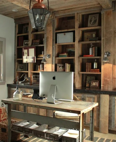 rustic home office design 42 Awesome Rustic Home Office Designs | DigsDigs
