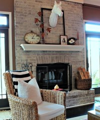 Shabby Chic Brick Fireplace | Home Design and Interior ...