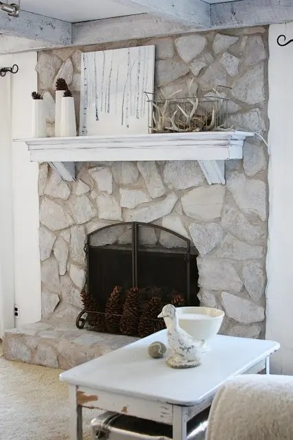 38 Awesome Whitewashed Fireplace Designs DigsDigs