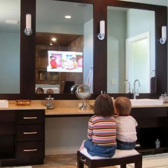 Bathroom Mirrors with BuiltIn TVs by Seura  DigsDigs