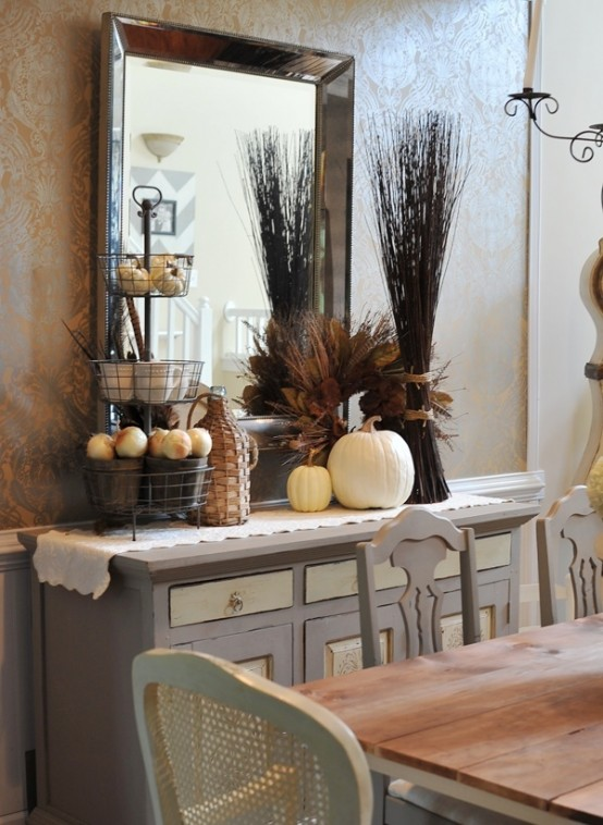 living room table decor how to decorate a short narrow 30 beautiful and cozy fall dining ideas digsdigs