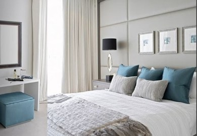 Bedrooms Blue And Gray Bedroom Design Decor Photos