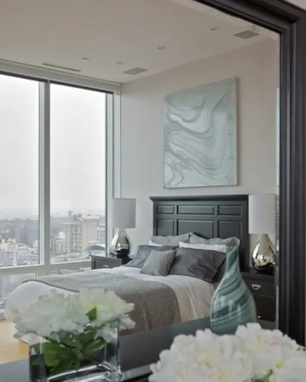 Keep it light (and almost white) · 2. 20 Beautiful Blue And Gray Bedrooms | DigsDigs
