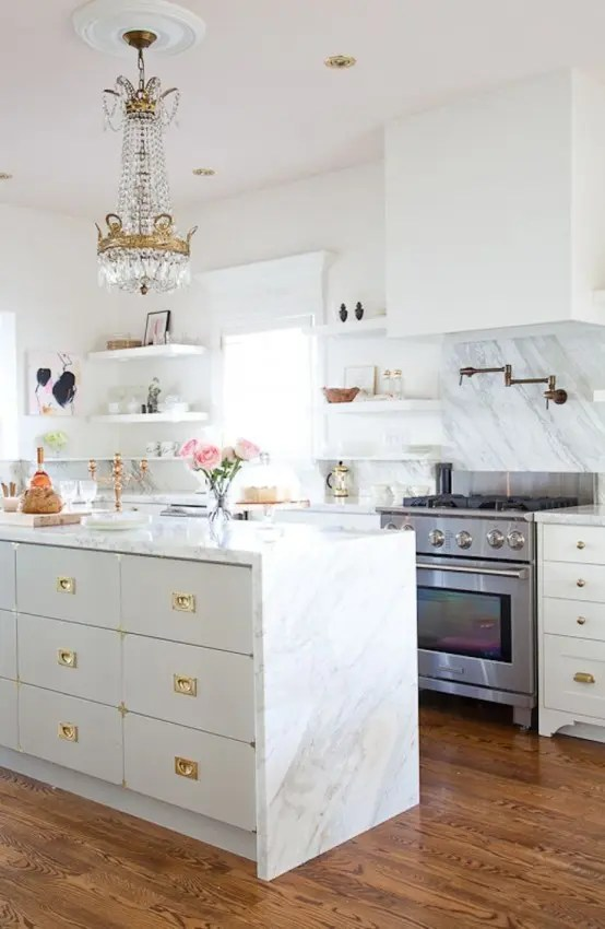 26 Beautiful Glam Kitchen Design Ideas To Try DigsDigs
