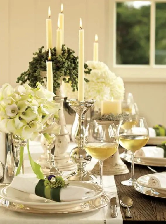 table table decorating ideas black with silver plates