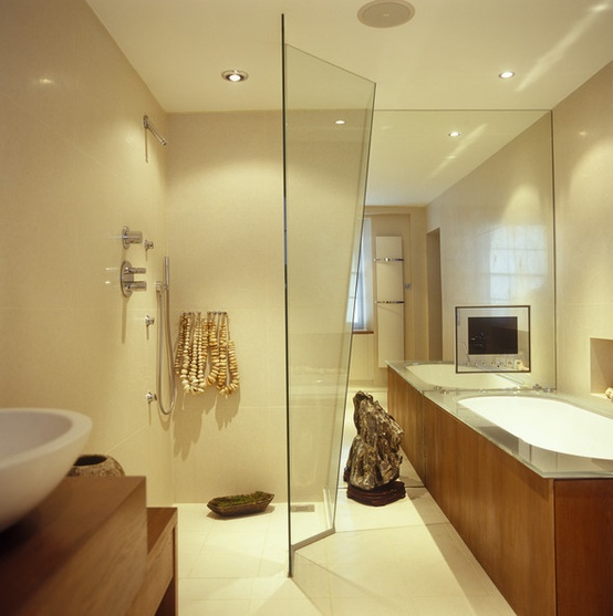See more ideas about black and white living room, decor, white living. 43 Calm And Relaxing Beige Bathroom Design Ideas - DigsDigs