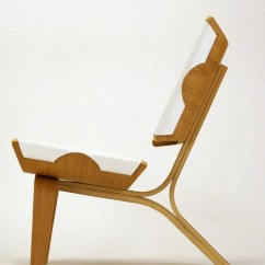 Ergonomic Chair Lounge Height Adjustable Office Aesthetically Brilliant Made Of Bent Plywood And Leather | Digsdigs