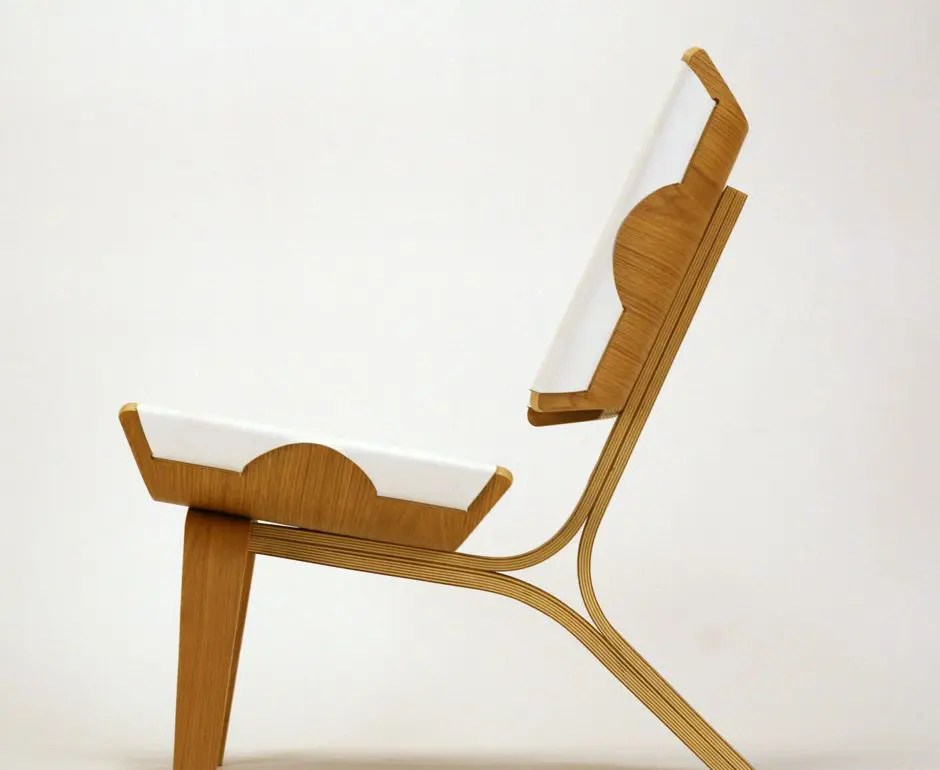 ergonomic rocking chairs metal lawn chair aesthetically brilliant made of bent plywood and leather | digsdigs