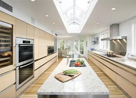 Beautiful Design of Big Kitchen in Natural Colors  DigsDigs