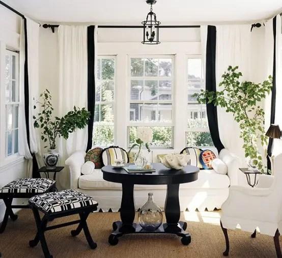 black and white living room interior design 21 Designs Black and White Rooms, Traditional But Elegant!