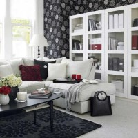 21 Black And White Traditional Living Rooms - DigsDigs