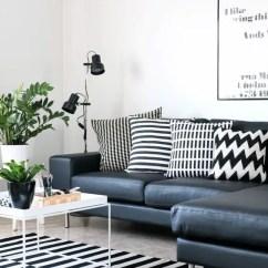 Grey Sofa Living Room Decor Casual Coastal Furniture 26 Ways To Use Ikea Stockholm Rug For Home - Digsdigs