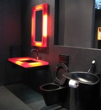 19 Almost Pure Black Bathroom Design Ideas - DigsDigs