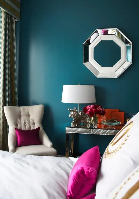 Blue And Turquoise Accents In Bedroom Designs  39 Stylish Ideas  DigsDigs