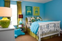 Turquoise Walls Bedroom - Home Decorating Ideas