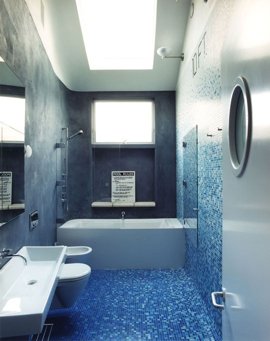 Blue C Delft Denim Decor Bathroom