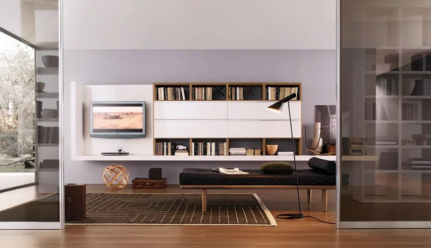 20 Modern Living Room Wall Units for Book Storage from