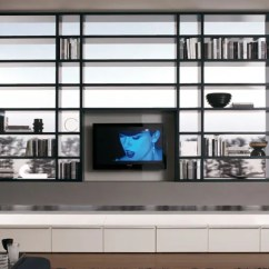 Tall Living Room Cabinets Modern Rooms With Grey Sofas 20 Wall Units For Book Storage From ...