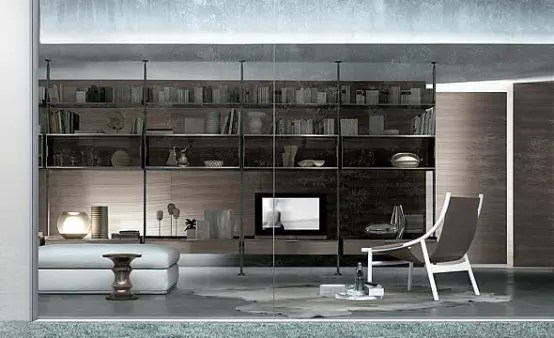 Bookcases for Living Room by Rimadesio  DigsDigs