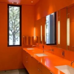 Kitchen Designs Com Single Faucet 30 Inspiring Ripe Orange Room - Digsdigs
