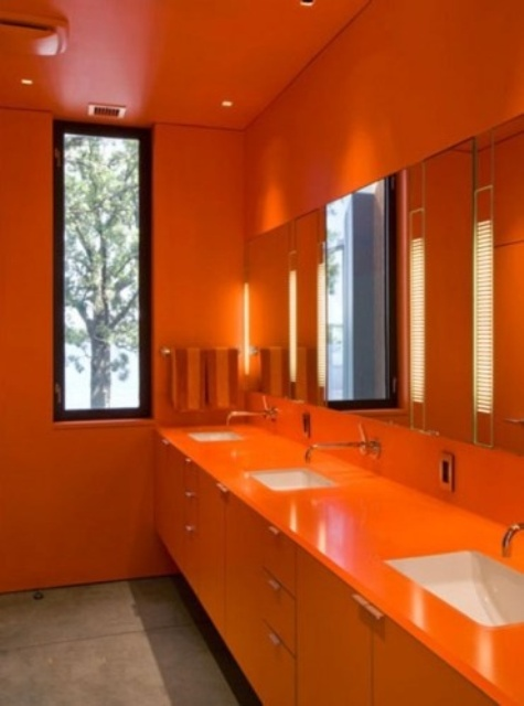 kitchen decorating ideas lighting fixtures 30 inspiring ripe orange room designs - digsdigs