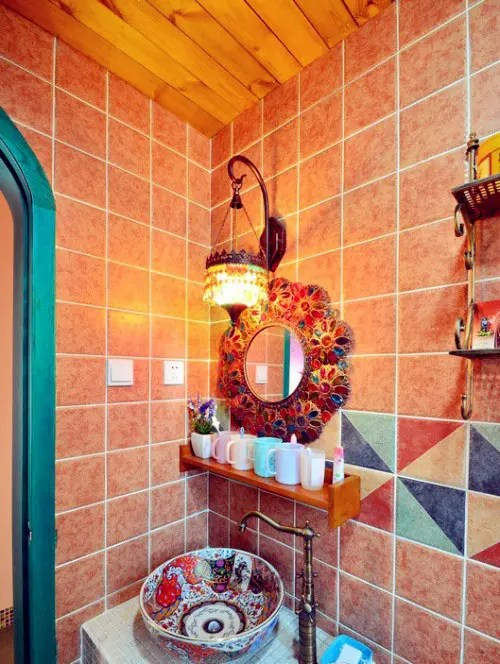 36 Bright Bohemian Bathroom Design Ideas DigsDigs