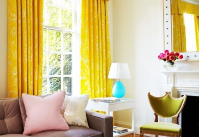 Curtains For Yellow Living Room