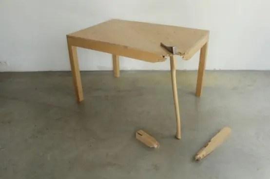 rattan chair ikea voom ergonomic in black colour by emperor 'broken' furniture collection lennart van uffelen - digsdigs