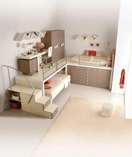 brown loft teenage bedroom