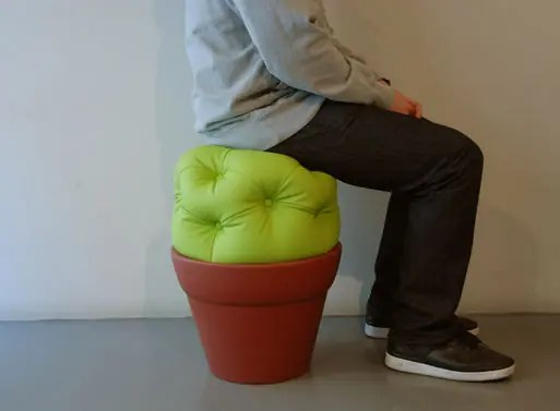 Unusual Indoor and Outdoor Pouf  The Cactus Stool  DigsDigs