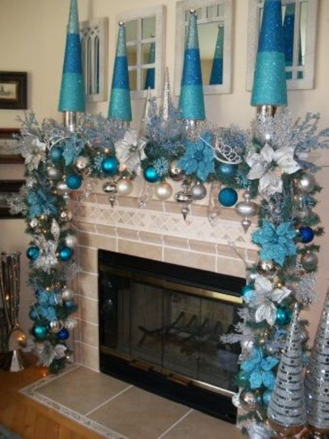 35 Silver And Blue Decor Ideas For Christmas And New Year Digsdigs