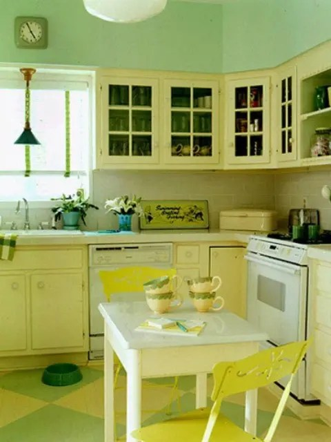 Cheerful Summer Interiors 50 Green And Yellow Kitchen