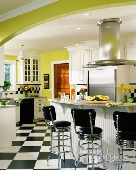 Cheerful Summer Interiors 50 Green And Yellow Kitchen
